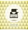 Typewriter logo icon vector image vector image