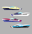 version modern yacht icons ship at sea transport vector image