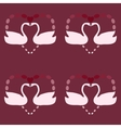White Swan symbol of love vintage seamless pattern vector image vector image