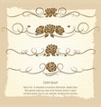 vintage decorative ornaments with roses vector image