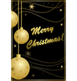 black and gold card for christmas vector image