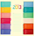 2013 calendar modern soft color