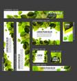 8 standard size spring banner templates vector image vector image