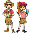 adventure kids explorers vector image