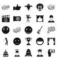 affective icons set simple style vector image vector image