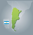 argentina information map vector image