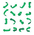 arrow stickerst various angles and directions 3d vector image vector image