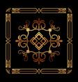 art deco ornamental decorative frame floral vector image vector image