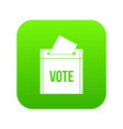 ballot box icon digital green vector image vector image