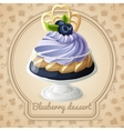 Blueberry dessert badge vector image vector image