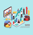 business analyst concept vector image vector image