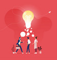 business brainstorming and sharing ideas concept vector image