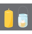 candle with fire vector image vector image