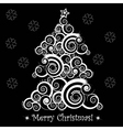 christmas abstract tree vector image vector image