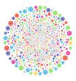 cogwheel fireworks sphere vector image vector image