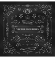 collection flourishes vector image
