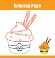 coloring page educational children game color vector image