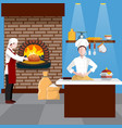 cooking people flyer vector image vector image