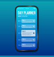 creative of phone day planner vector image vector image