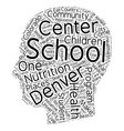 Denver Schools Are A Model Of Good Health text vector image vector image