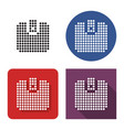 dotted icon wallet in four variants with short vector image vector image