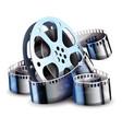film-strip for cinema motion vector image vector image