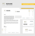 fork and spoon business letterhead envelope and vector image vector image
