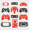 gamepad silhouette icon set vector image vector image