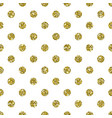 gold glitter dotted pattern background vector image vector image