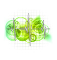 grid graph vector image vector image
