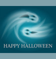 happy halloween swirling sad apparitions vector image
