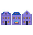 houses old european city street with residential vector image vector image