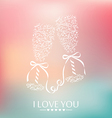 I love you background vector image