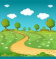 landscape concept cartoon style vector image