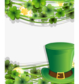 Leprechaun hat and gold coins vector image vector image