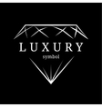 luxury diamond gem contour symbol vector image