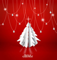 Merry Christmas greeting card with origami vector image vector image