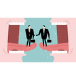 Negotiations and dialogue Transaction business vector image vector image