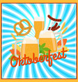 oktoberfest poster template vector image vector image