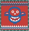 ornamental owl print vector image vector image