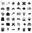 outdoor icons set simle style vector image vector image