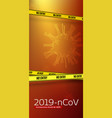 pandemia virus covid19 19-ncp vertical banner vector image vector image