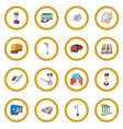 railroad cartoon icon circle vector image vector image