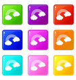 rainbow icons 9 set vector image vector image