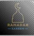 ramadan kareem neon effect vector image
