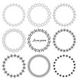 round frames for decoration vector image vector image