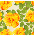 seamless texture flower yellow rose stem vector image vector image