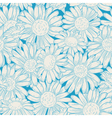 set of four seamless daisy patterns vector image vector image