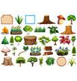 set ornamental plant vector image vector image