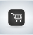 shopping cart icon on black app button graphic vector image